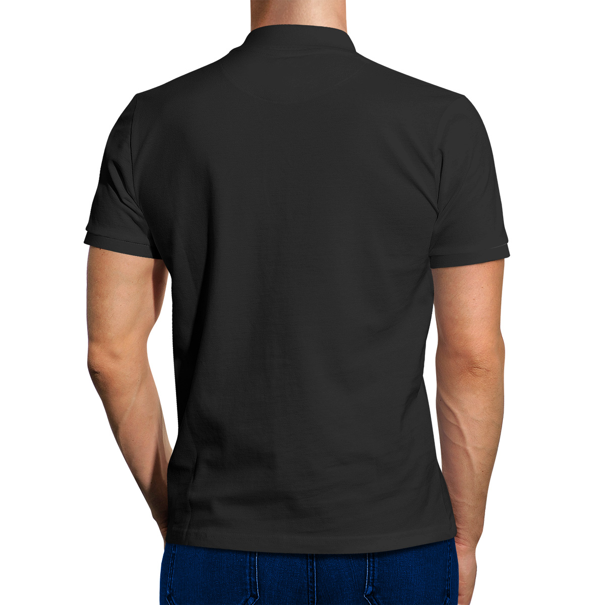 Black T Shirt Rear