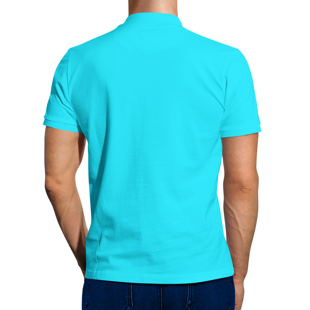 Sky blue t shirt front and back Light blue t shirt mens