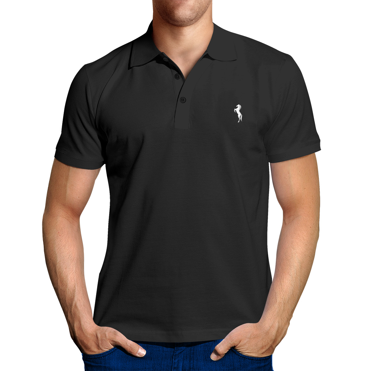 ENHARID CLASSIC POLO SHIRT FOR MEN, BLACK – Enharid