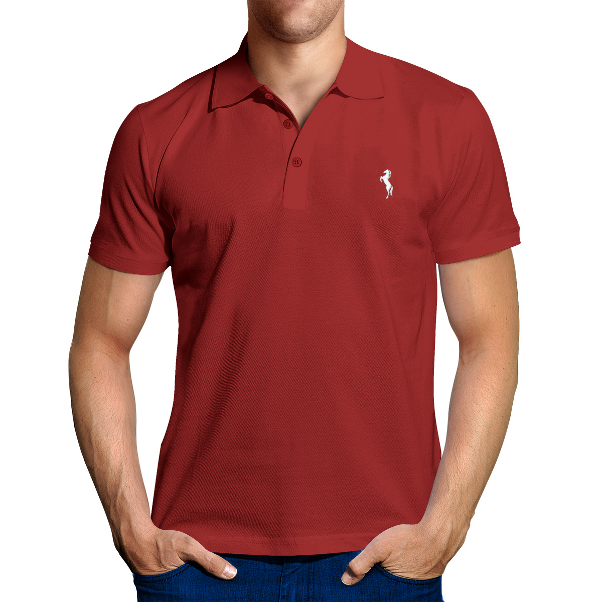 Enharid classic polo shirt for men maroon enharid for Maroon t shirt for men