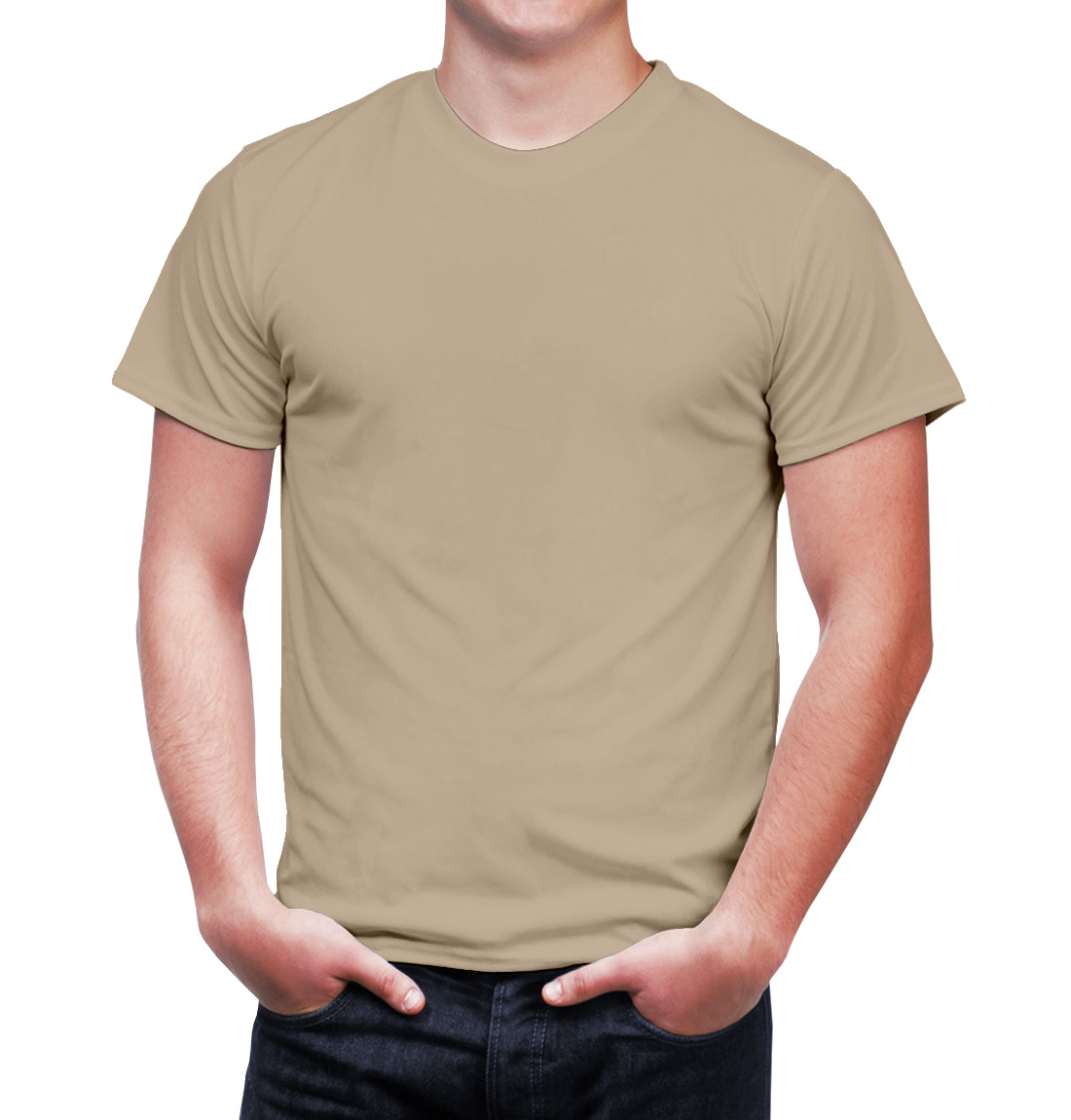 Clothing t shirts enharid crew neck t shirt sky beige enharid for Custom dress shirts orange county