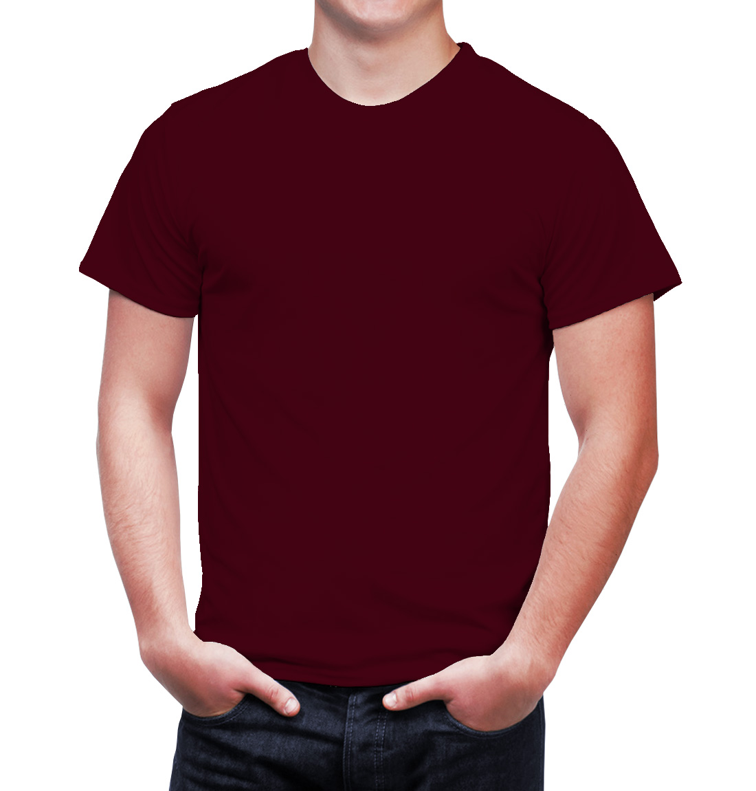 Enharid crew neck t shirt maroon enharid for Maroon t shirt for men