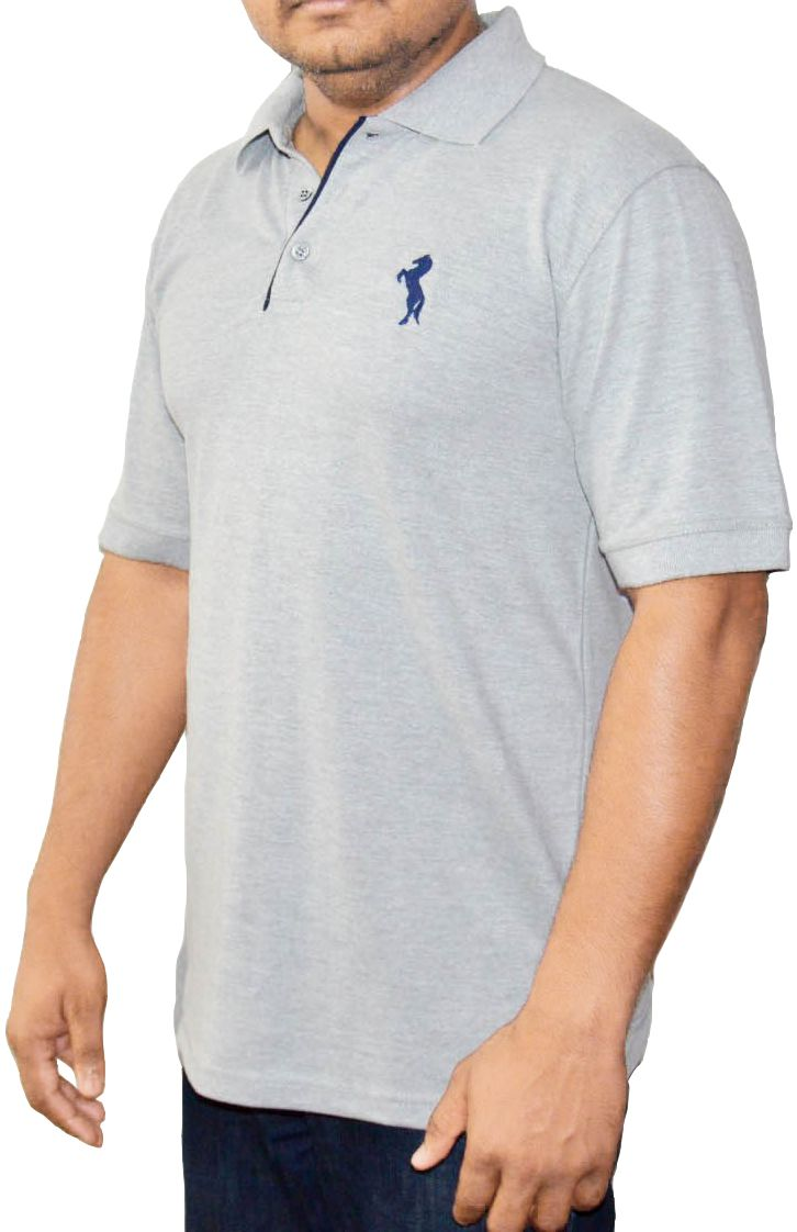 Enharid short sleeve polo shirt for men grey enharid for Short sleeved shirts for men