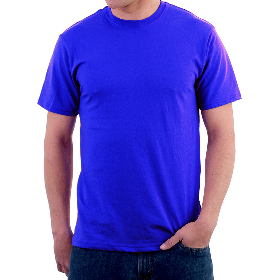 Enharid Round Neck T Shirt For Men Blue Enharid